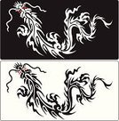 Dragon,Tattoo,Calligraphy,Chinese Culture,Vector,Fantasy,Silhouette,Symbol,Wing,Art,Demon,Claw,Decoration,Swirl,Line Art,Animal,Monster,Ancient,Illustrator,Black Color,Design Element,Reptile,Animals And Pets,Decor,Ilustration,Isolated Objects,Fairy Tale,Arts And Entertainment,Drawing - Art Product,Arts Symbols,Imagination,Isolated-Background Objects,Sign,Reptiles