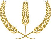 Wheat,Laurel Wreath,Whole Wheat,Coat Of Arms,Food,Vector,Award,Symbol,Gold Colored,Religious Icon,Rye,Abstract,Winning,Ilustration,Three Objects,No People,Success,Plants,Baking,Vector Ornaments,Food And Drink,Illustrations And Vector Art,Nature