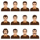 Men,Human Face,Human Hair,Flat,Fashion,People,Collection,Group Of People,Human Eye,Ilustration,Front View,Avatar,Real People,Profile View,Business,Profile,Characters,Silhouette,Vector,Set,Isolated,Adult,Portrait,Caucasian Ethnicity,Animated Cartoon,Team,Young Adult,Little Boys,Human Lips,Human Head,Sports Team,Computer Icon,White,user,Icon Set,One Person,Eyebrow,Facial Mask - Beauty Product,Male