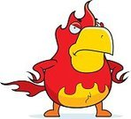Frowning,Ilustration,Phoenix - Mythical Bird,Vector,Flame,Fire - Natural Phenomenon,Furious,Anger,Bird,Cartoon,Displeased