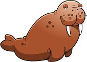 Walrus,Sitting,Tusk,Vector,Whisker,Ilustration,Overweight,Animal,Large,Brown,Cartoon