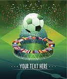 Soccer,Global Communications,International Match,Soccer Stadium,Action,Ilustration,Ball,Goal Kick,Passion,Motion,Multi Colored,National Flag,Fifa World Cup,Team Sport,Blue,Latin America,Sports Team,sports and fitness,Vector,Poster,Cheering,Abstract,Geometric Shape,Symbol,Celebration,Winning,Clip Art,Green Color,South America,Brazilian Flag,Success,Sport