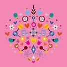 Vibrant Color,Cartoon,Characters,Multi Colored,Bright,Blossom,Abstract,Art,Backgrounds,Retro Revival,Positive Emotion,Vector,Vignette,Ilustration,Love,Symbol,Decoration,Springtime,Music,Growth,Cheerful,Concepts,Composition,Pink Color,Cute,Ornate,Happiness,Group of Objects,Flower,1940-1980 Retro-Styled Imagery,Nature,Joy,Vitality,Holiday,Orchestra,Leaf,Shape,Modern,Star Shape,Heart Shape