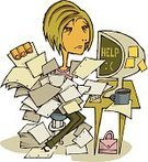 Emotional Stress,Paperwork,Women,Exhaustion,Frustration,Office Interior,Computer,Business Person,Tired,Businesswoman,Defeat,Ilustration,Professional Occupation,Business People,People,Adults,Coffee - Drink,Young Women,Business,Lifestyle