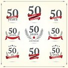 50th Anniversary,Congratulating,Number 50,Anniversary,Jubilee,Year,Ribbon,Award,50-54 Years,Colors,Vibrant Color,Symbol,Bright,Isolated,Circle,Wreath,Design Element,Ilustration,Honor,Cultures,Color Image,Vector,Collection,Number,Red,Computer Icon,Celebration