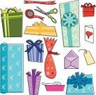 Gift,Christmas Present,Box - Container,Birthday,Gift Tag,Wrapping Paper,Doodle,Sketch,Holiday,Drawing - Art Product,Scissors,Rolled Up,Greeting Card,Ribbon,Adhesive Tape,Ribbon,Green Color,Vector,Envelope,Group of Objects,Isolated,Ilustration,Red,Blue,Purple,Pencil Drawing,Black Line,Christmas,Orange Color,Birthdays,Illustrations And Vector Art,note card,Holidays And Celebrations
