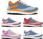 Sports Shoe,Ribbon,Asphalt,Sneackers,Horizontal,Strength,Leisure Activity,Sole Of Shoe,Recreational Pursuit,Running Track,Preparation,Marathon,Shoe,Relaxation Exercise,Female,Male,Isolated,Pink Color,Orange Color,Selective Focus,Women,Color Image,Outdoors,Healthy Lifestyle,Action,Sports Training,Exercising,Motivation,Body Care,Close-up,Medicine,Walking,Jogging,Running,Sport,Red,Lifestyles,Gray,Men