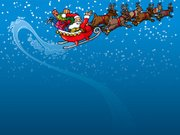 Santa Claus,Sleigh,Christmas,Reindeer,Sled,Snow,Flying,Winter,Gift,Blue,Night,Red,Travel Destinations,Vacations,Mid-Air,Copy Space,Speculative Being,Illustrations And Vector Art,Consumerism,Vector Backgrounds,Holidays And Celebrations,Concepts And Ideas,Christmas,Waving,Beard,Air Pump