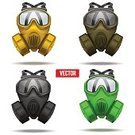 Gas Mask,Army,Military,Hat,Work Helmet,Protection,Splattered,Protective Workwear,Risk,Conflict,Set,Vector,Police Force,Protective Mask - Workwear,Protest,Yellow,Green Color,Black Color,Uniform,Isolated,Terrorism,Equipment,Body Armor,Warning Sign