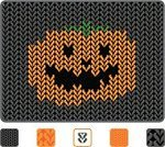 Knitting,Woven,Black Color,Halloween,Horror,Pumpkin,Halloween,Vector Backgrounds,Holidays And Celebrations,Spooky,Orange Color,Gray,Illustrations And Vector Art