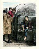 Poverty,Victorian Style,People,Old-fashioned,Little Boys,The Past,Retro Revival,Social History,House,History,Southeast England,Print,Lithograph,Northern Europe,European Culture,pauper,Ilustration,Color Image,British Culture,Barren,Named Book,UK,Charles Dickens,England,Obsolete,London - England,Child,Engraved Image,Barefoot,Social Issues,Europe,Teenage Boys,English Culture,European Music,Homelessness,Literature,Nostalgia,Housing Problems,Cultures,Despair,Image Created 19th Century,Antique,Pleading,Remote,19th Century Style,Beggar,Woodcut,Begging - Social Issue,Old,Male