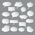 Group of Objects,Discussion,Ilustration,Design Element,Symbol,Computer Icon,Sign,Humor,Announcement Message,Style,Empty,Collection,White,Speech,Medium Group of Objects,Set,Computer Graphic,Communication,Comic Book,Cartoon,Isolated,Talking,Vector,Fun