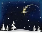 Comet,Christmas,Tree,night sky,Snow,Star Shape,Star - Space,Winter,December,Cold - Termperature,Ilustration,Star Trail,Dark,Nature,Wishing,Season,Shiny,falling star,Holiday,Blue,Landscape,Vector,Christmas Card,Bright