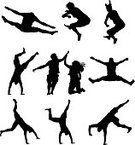 Sport,Cartwheel,Silhouette,Jumping,Exercising,People,Men,High-Five,Handstand,Vector,Excitement,Women,Art,Action,Physical Activity,Motion,Male,Athlete,Stretching,Teaching,Balance,Agility,Celebration,Adult,Variation,White Background,Arms Outstretched,Energy,Lifestyles,Togetherness,Expertise,Computer Graphic,Group Of People,Leisure Activity,Exhilaration,Sports Training,Mid-Air,Black Color,Upside Down,Skill,Effort,Success,Unrecognizable Person,Ilustration,Adults Only,Vitality,Digitally Generated Image