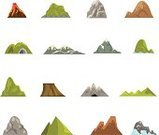 Mountain,Symbol,Sign,Hill,Hiking,Adventure,Outdoors,No People,Snowcapped,Simplicity,Mountain Peak,Rock - Object,Snow,Shape,Extreme Sports,Nature,Geology,Mountain Ridge,Collection,Computer Graphic,Ilustration,Moving Up,Vector