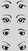 Human Eye,Manga Style,Eyelash,Cartoon,Vector,Facial Expression,Eyebrow,Ilustration,Beauty,Black And White,Beautiful,Beauty In Nature,People,Illustrations And Vector Art,Beauty And Health