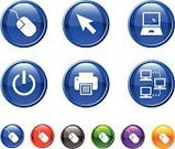 Computer,Computer Mouse,Technology,Symbol,Sign,Computer Icon,Push Button,Icon Set,Circle,Interface Icons,Business,Start Button,Set,Communication,Vector,Blue,Green Color,Computer Network,Series,Aiming,Purple,Laptop,Electrical Equipment,Arrow Symbol,Computer Printer,Orange Color,Black Color,Design,Ilustration,Modern,Red,Sparse,Electronics Industry,Simplicity,Medium Group of Objects,White Background