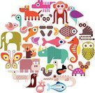 Animal,Zoo,Penguin,Hyena,Icon Set,Symbol,Mammal,Lemur,Circle,Rhinoceros,Panda,Wildlife,Parrot,Vet,Crocodile,Dog,Fox,Elephant,Cartoon,Monkey,Collage,Koala,Hippopotamus,Sea Horse,Butterfly - Insect,Veterinary Medicine,Tropical Rainforest,Computer Graphic,Design,Nature,Set,Baby Chicken,Vector,Design Element,Round Shape,Bird,Ilustration,Fish,Isolated,Tropical Climate,zoo animals,Young Bird