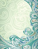 Surf,Wave,Ilustration,Vector,Design,Backgrounds,Abstract,Green Color,Blue,Curve,Flowing Water,Scroll Shape,Curled Up,Swirl,Summer,Flowing,Liquid,Sea