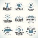 Sailing,Lighthouse,Kraken,Symbol,Whale,Nautical Vessel,Rope,template,Harpoon,Typescript,Seagull,Insignia,Wheel,Hat,Vector,Computer Graphic,Sailor,Driving,Cultures,Ilustration