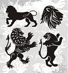 Lion - Feline,Sign,Silhouette,Vector,T-Shirt,Design,Animal,Computer Graphic,Insignia,Ilustration,Old,Art,Victorian Style,Grunge,Black Color,Zoo,Digitally Generated Image,Old-fashioned,Cultures,Retro Revival,Plant,Elegance,Classic,Backgrounds,Painted Image,Animals And Pets,Illustrations And Vector Art,Gray,Arts Abstract,Arts And Entertainment,Contour Drawing