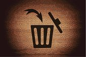 Garbage Can,Symbol,Garbage Dump,Garbage,Single Object,Ilustration,Basket,Can,Backgrounds,Computer,Bag,Sign,deleted,Delete Key,Vector,Removing,Ruined,Recycling,Label
