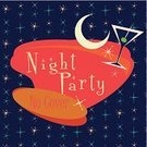Retro Revival,Cocktail,Star Shape,Old-fashioned,Ilustration,Art,Insignia,Style,Sign,Ornate,Postage Stamp,Banner,Label,Drink,Symbol,Design Element,Moon,Night,Vector,Party - Social Event,Seal - Animal