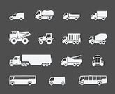 Truck,Tractor,Semi-Truck,Garbage,Vector,Freight Transportation,Symbol,Side View,Car,Concrete,Ilustration,Cargo Container,Land Vehicle,Carrying,Trucking,Electric Mixer,Transportation,Cement,Traffic,Service