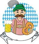 Beer - Alcohol,Bavaria,German Culture,Oktoberfest,One Person,Alcohol,Cartoon,Celebration,Germany,Cultures,Suspenders,Stereotypical,Holding,October,Banner,Mug,Placard,Music Festival,Leather,Ilustration,Characters,Vector,People,Glass,Traditional Festival,Munich,Men,Isolated,Hat,Mustache,Beard,Pretzel,Beer Stein,Bartender,Lederhosen,Symbol,Party - Social Event