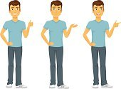 Men,Cheerful,Happiness,Casual Clothing,Cartoon,Thumbs Up,Characters,Smiling,Jeans,Drawing - Art Product,Art,Clip Art,Looking At Camera,Caucasian Ethnicity,Male,Isolated,T-Shirt,Showing,Backgrounds,Vector,Design,Ilustration,People,Posing,Mascot,Multiple Image,Sports Shoe,Blue,Human Hair,Human Eye,Pointing,Brown,Gesturing,White Background,One Person,Canvas Shoe
