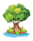 Mermaid,Smiling,Power,Animal,Sea,Nature,Vector,Leaf,Tree,Wealth,Lifestyles,half-human,Computer Graphic,Branch,Island,Image,Backgrounds,Women,template,Clip Art,People
