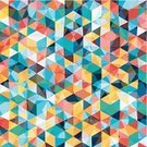 Geometric Shape,Colors,Pattern,Retro Revival,Tile,Abstract,Mosaic,Backgrounds,Rhombus,Vector,Computer Graphic,Textured Effect,Style,Wallpaper Pattern,Design,Multi Colored,Triangle