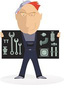Engineer,Machine Valve,Natural Gas,Vector,People,Ilustration,Vertical,Humor,Clip Art,Occupation,Tube,Physical Pressure,Water,Laughing,Recovery,Industry,Instruction Manual,Cute,Bolt,spare,Pipeline,Plumber,Manual Worker,Men,Repairman,Maintenance Engineer,Coveralls,Mechanic,Cartoon,Pipe - Tube,Sewage,Factory,Installing,Technology,Work Tool,Engineering,Expertise