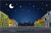 Ramadan,Street,Cartoon,Night,Mosque,Residential District,House,Suburb,Built Structure,Backgrounds,Building Exterior,Silhouette,Vector,Clip Art,Ilustration,Caricature,Sky,Crescent,District,Back Lit,Flexibility,Illustrations And Vector Art,Architecture And Buildings,Concepts And Ideas,Religion,Architecture Backgrounds,Vector Backgrounds,customizable