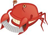 Accordion,Crab,Crustacean,Cartoon,Musician,Clip Art,Red,Cute,Happiness,Humor,Cheerful,Isolated,Playful,Isolated On White,Vector,Ilustration,Smiling,Playing