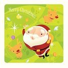 Santa Claus,Christmas,Reindeer,Christmas Ornament,Vector,Holiday,Christmas Decoration,Winter,Backgrounds,Bell,Ilustration,jingle,Greeting,Green Color,Clip Art,Cheerful,Happiness,Male,December,Joy,Vertical,Celebration,jingle bell,Excitement,Holidays And Celebrations,Arts And Entertainment,People,Arts Backgrounds,Christmas