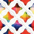 Abstract,Cut Out,Perforated,Multi Colored,Mosaic,Pixelated,Backgrounds,Backdrop,Pattern,Geometric Shape,Vector