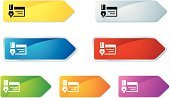 Pen,Paper,Arrow Symbol,Label,Document,Green Color,Blue,Red,Icon Set,Religious Icon,Computer Icon,Symbol,Orange Color,Purple,Yellow,Gray,Interface Icons,Illustrations And Vector Art,Set,Multi Colored,Shiny,web icon,Internet,Concepts And Ideas,Objects/Equipment,www,White Background,Metallic,Vector,Push Button