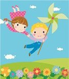 Child's Drawing,Balloon,Cartoon,Playing,Playful,Little Girls,Child,Pencil Drawing,Lifestyles,Wind Turbine,Front View,Smiling,Group Of People,Image,Little Boys,Cheerful,People,Fun,Environmental Conservation,Outdoors,Flower,Illustrations And Vector Art,Ilustration,Doodle,Small,Vector,Summer,Nature,Flying,Happiness