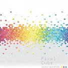 Colors,Banner,Block,Pixelated,Backgrounds,Multi Colored,Abstract,Pattern,Cube Shape,Vector,Modern,Vibrant Color,Technology,Internet,White,Creativity,Shape,Gray,Geometric Shape,Ilustration,Computer Graphic,Glowing,Digitally Generated Image,Three-dimensional Shape,Design