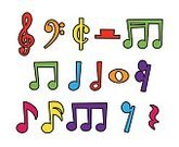 Sheet Music,Music,Vector,Vibrant Color,Multi Colored,Cartoon,Musical Note