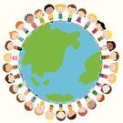 World Map,Peace On Earth,Globe - Man Made Object,Vector,Around,Friendship,Earth,Child,Offspring,Childhood