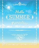 Frame,Beach,Island,Palm Tree,Tropical Climate,Backgrounds,Water,Sea,Vector,Surf,Palm Leaf,Heat - Temperature,Ilustration,Summer,Vacations,Wave,Sunlight,Sun