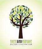 Vector,Design,Ilustration,Creativity,Environmental Conservation,Shape,Tree,Protection,Concepts,Nature,Environment