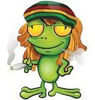Marijuana,Happiness,Frog,Magic,Reggae,White,Jamaica,Green Color,Comedian,Hat,Dreadlocks,Smoking,Clip Art,Cute,Amphibian,Awe,Isolated On White,Rastafarian,Fear,Ilustration,Jamaican Culture,Vector,Bizarre,Humor,Cartoon,Comic Book,Gecko,White Background,Animal,Fairy Tale,Luck,Cigarette,Backgrounds,Pond