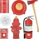 Fire - Natural Phenomenon,Fire Extinguisher,Axe,Safety,Symbol,Fire Alarm,Smoke Detector,Fire Hydrant,Computer Icon,Protection,Emergency Sign,Sign,Rescue,Urgency,Emergency Services,Security,Extinguishing,Arson,Security System,Ilustration,Group of Objects,Red,fire safety,Objects/Equipment,Vector Icons,Isolated Objects,Illustrations And Vector Art,Warning Sign,public safety,Vibrant Color