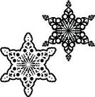 Christmas,Snowflake,Black And White,Silhouette,Art Deco,Christmas Ornament,Crystal,Winter,Christmas Decoration,Back Lit,Individuality,Vector,Geometric Shape,Clip Art,Intricacy,Decoration,Symmetry,Isolated Objects,Nature,Illustrations And Vector Art,Ornate