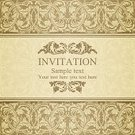 Frame,Floral Pattern,Victorian Style,Retro Revival,Invitation Template,Ancient,The Past,Cultures,Design,Vignette,Beige,Ilustration,Vector,Brown,Flower,Ornate,Banner,Decoration,Pattern,template,Placard,Gold Colored,Classic,Horizontal,Swirl,Greeting,Old-fashioned,Antique,Text,Renaissance,Pastel Colored,Holiday,Invitation,Baroque Style