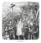William Tell,Obedience,Leadership,Crowd,Spectator,Child,Market Square,Work Tool,Ilustration,Senior Adult,townsfolk,Non-Urban Scene,Hand Raised,Full Length,Drawing - Art Product,Image Created 19th Century,Outdoors,Engraved Image,Black And White,Middle Ages,Traditional Clothing,History,Bailiff,Success,Pole,hermann,German History,Circa 13th Century,German Culture,Hat,citizens,White Background,Musical Instrument,Medieval,Old-fashioned,Cultures,Square,Social History,Group Of People
