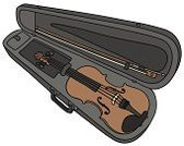 Wood - Material,Fiddle-stick,Fiddle-bow,Music,Classic,Cartoon,Vector,Musical Instrument,Case,Fiddle-case,String Instrument,Musical Instrument String,Gosling,Briefcase,catgut,Violin